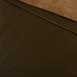 1mm Soft Crease Textured Cowhide Dark Brown 30x60cm
