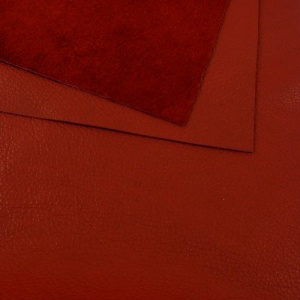 1mm Soft Crease Textured Cowhide Red A4