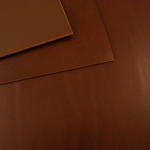 1.5-1.7mm Chestnut Brown Vegetable Tanned Leather A4 Size