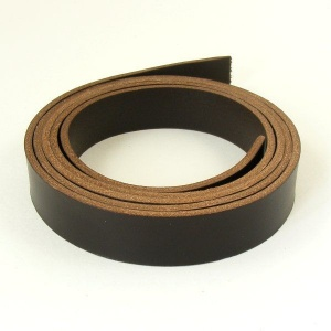2 - 2.5mm Dark Brown Lamport Leather Strip