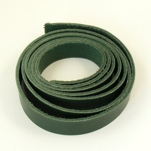 2 - 2.5mm Green Vegetable Tanned Leather Strip