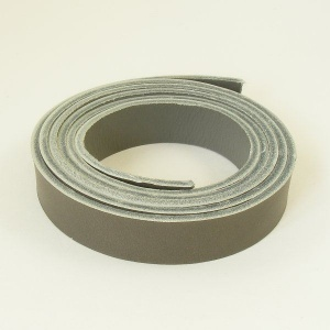 2 - 2.5mm Grey Vegetable Tanned Leather Strip