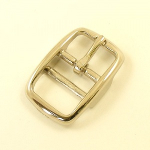 Cavesson Double Bar Buckle Nickel Plated 19mm