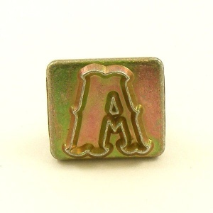 20mm Decorative Letter A Embossing Stamp