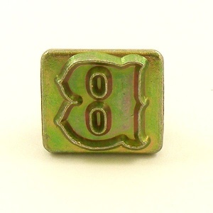 20mm Decorative Letter B Embossing Stamp