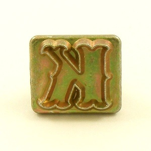 20mm Decorative Letter K Embossing Stamp