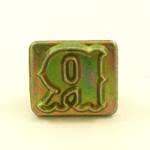 20mm Decorative Letter R Embossing Stamp