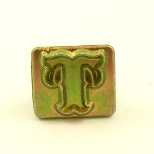 20mm Decorative Letter T Embossing Stamp