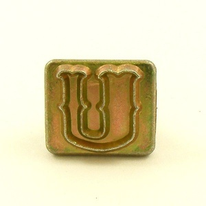 20mm Decorative Letter U Embossing Stamp