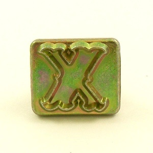 20mm Decorative Letter X Embossing Stamp