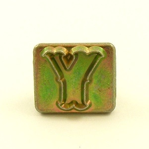 20mm Decorative Letter Y Embossing Stamp