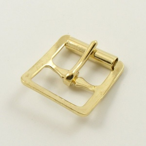 20mm Stamped Whole Roller Buckle - Brass Plate