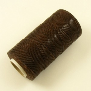 0.6mm Brown Synthetic Waxed Thread 245 Metres