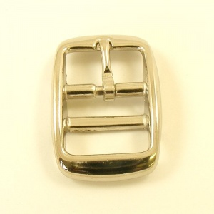 Cavesson Double Bar Buckle Nickel Plated 25mm