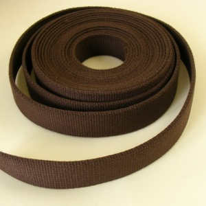 SALE 32mm Heavy Cotton Webbing Choc Brown 5 Metres
