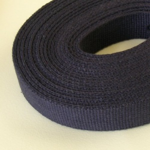 32mm Heavy Cotton Webbing Navy Blue 2 Metres