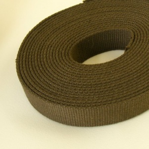 32mm Heavy Cotton Webbing Olive Green 2 Metres