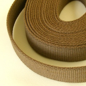 SALE 32mm Heavy Cotton Webbing Wolf Brown 5 Metres