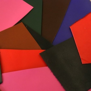 0.6-1mm THIN Leather Pieces Mixed Colours 350g Pack