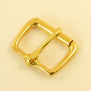 Shaped Solid Brass Roller Buckle 1 1/4 32mm