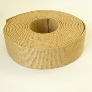 38mm Heavy Cotton Webbing Sand 2 Metres