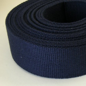 SALE 38mm Heavy Cotton Webbing Navy Blue 5 Metres