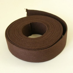 38mm Heavy Cotton Webbing Choc Brown 2 Metres