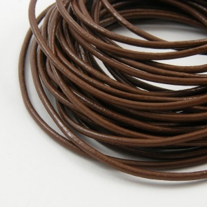 SALE Brown Leather Thonging 2mm Round 5 Metres
