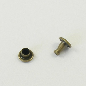 6mm Double Cap Antiqued Brass Rivets