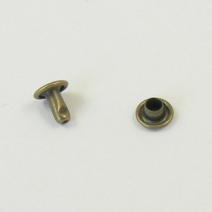 7mm Double Cap Antiqued Brass Rivets Pack of 30