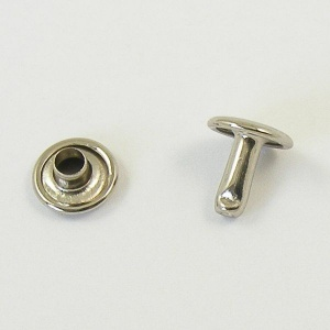 9mm Double Cap Nickel Plated Rivets Pack of 100