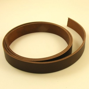 2.8-3mm Chocolate Brown Veg Tanned Belgian Belt Leather Strip