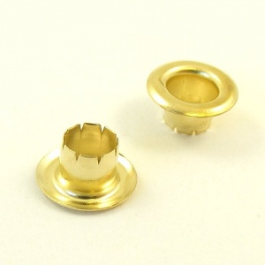 6.5mm Brass Eyelets for Leather & Craft