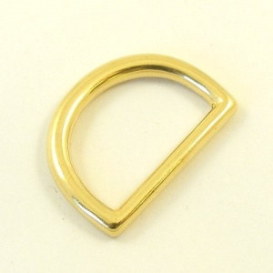25mm 1'' Cast Brass Shallow D Ring