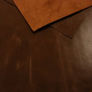 0.8-1mm Glossy Cowhide Brown A4