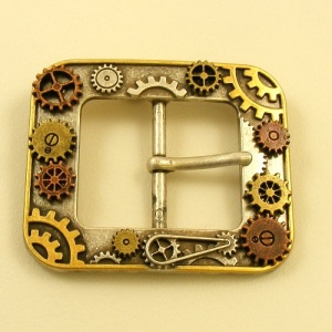 Moving Cogs Fancy Buckle 1 1/2 inch 38mm