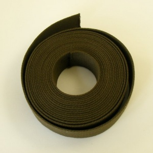 38mm Heavy Cotton Webbing Olive Green 5 Metres