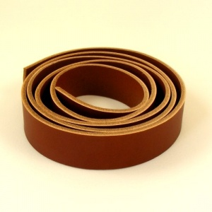 2.8-3mm Dark Tan Vegetable Tanned Leather Strip