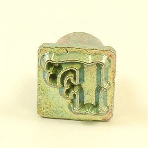 12mm Decorative Letter F Embossing Stamp