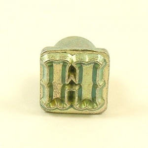 12mm Decorative Letter H Embossing Stamp