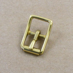 16mm HEAVY Cast Brass Whole Roller Buckle