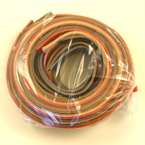 12-16mm Width Mixed Leather Strips 500g Pack