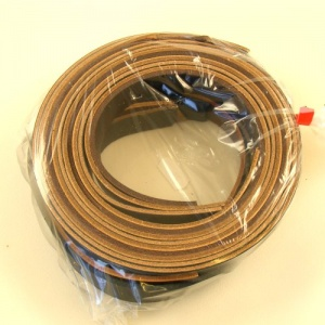 20mm Leather Strips Black Brown & Tan 500g Pack