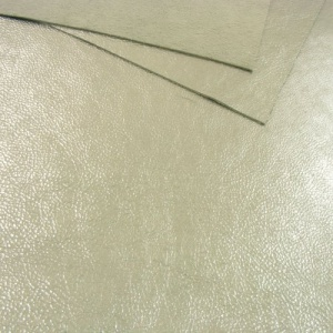 1mm Metallic Silver Leather 30x60cm