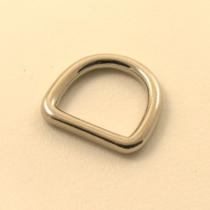 25mm 1'' Nickel Silver Rounded Heavy D Ring