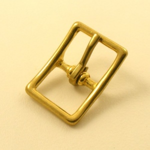 25mm Cast Brass Whole Halter Buckle