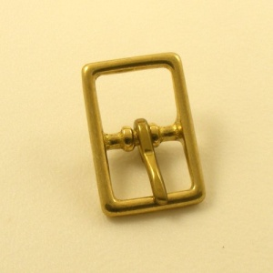 20mm Cast Brass Whole Halter Buckle