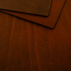 2.8-3mm Chestnut Matt Rustic Cowhide A4