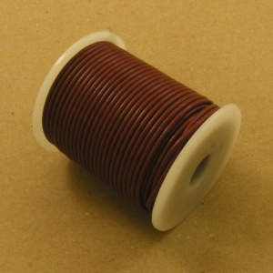 Burgundy 2mm Round Leather Lacing 25 Metres