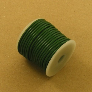 Green 2mm Round Leather Lacing 10 Metres